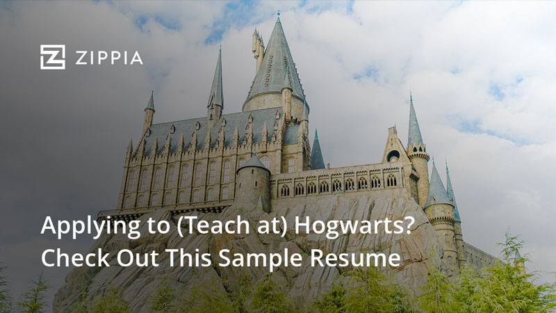 Applying to Teach at Hogwarts? Sample Resume from Zippia