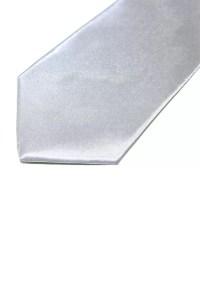 Men's silver necktie - silk - Ziva Wedding Dresses