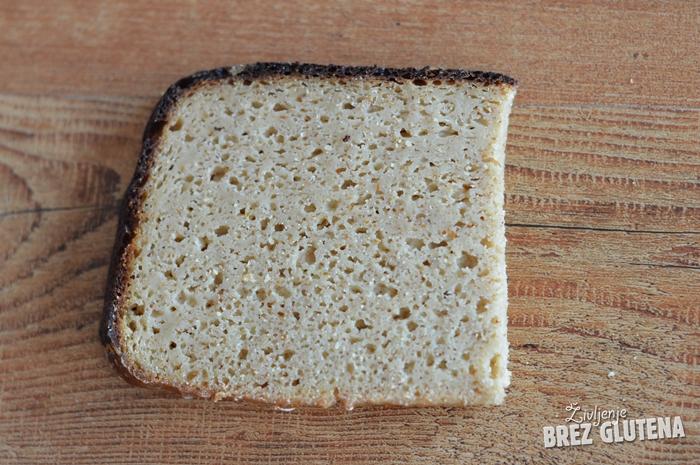 Proseni kruh brez kvasa z domačimi drožmi