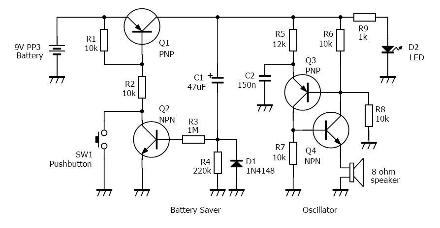 transceiver circuit diagram
