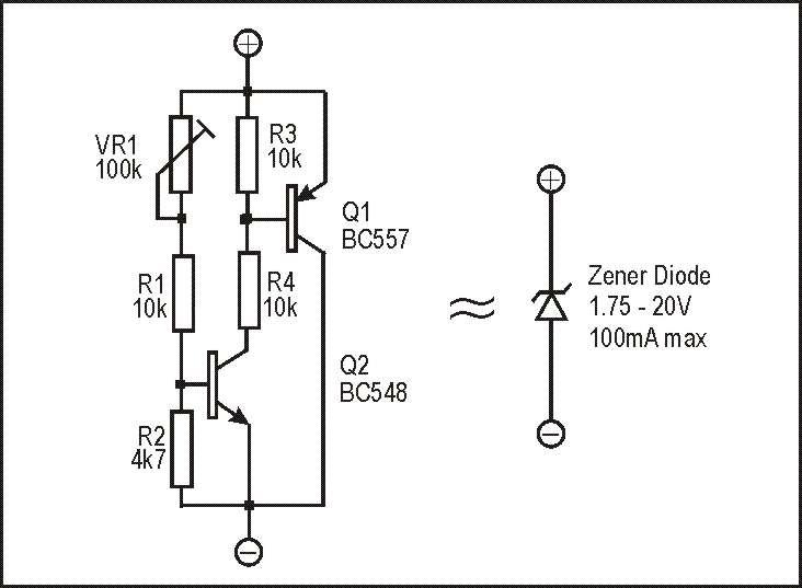 variable zener diode circuit diagram