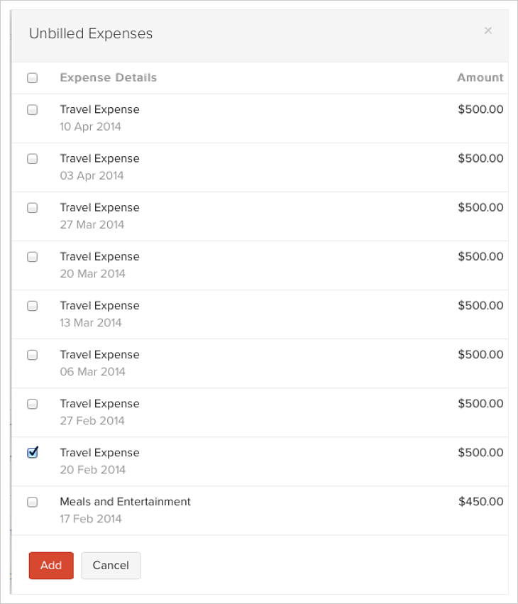 Include Unbilled Expenses and Projects in Invoice FAQ Zoho Books