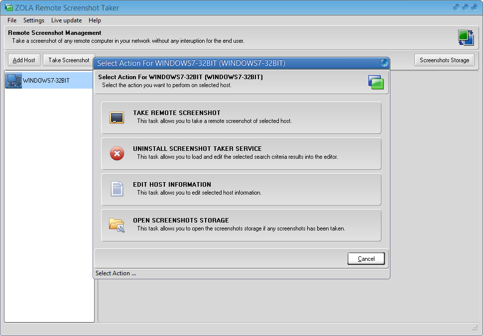 Remote Screenshots - Take Screenshots Remotely from a Remote PCs