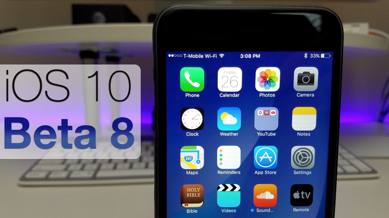 iOS 10 Beta 8 – What's New?