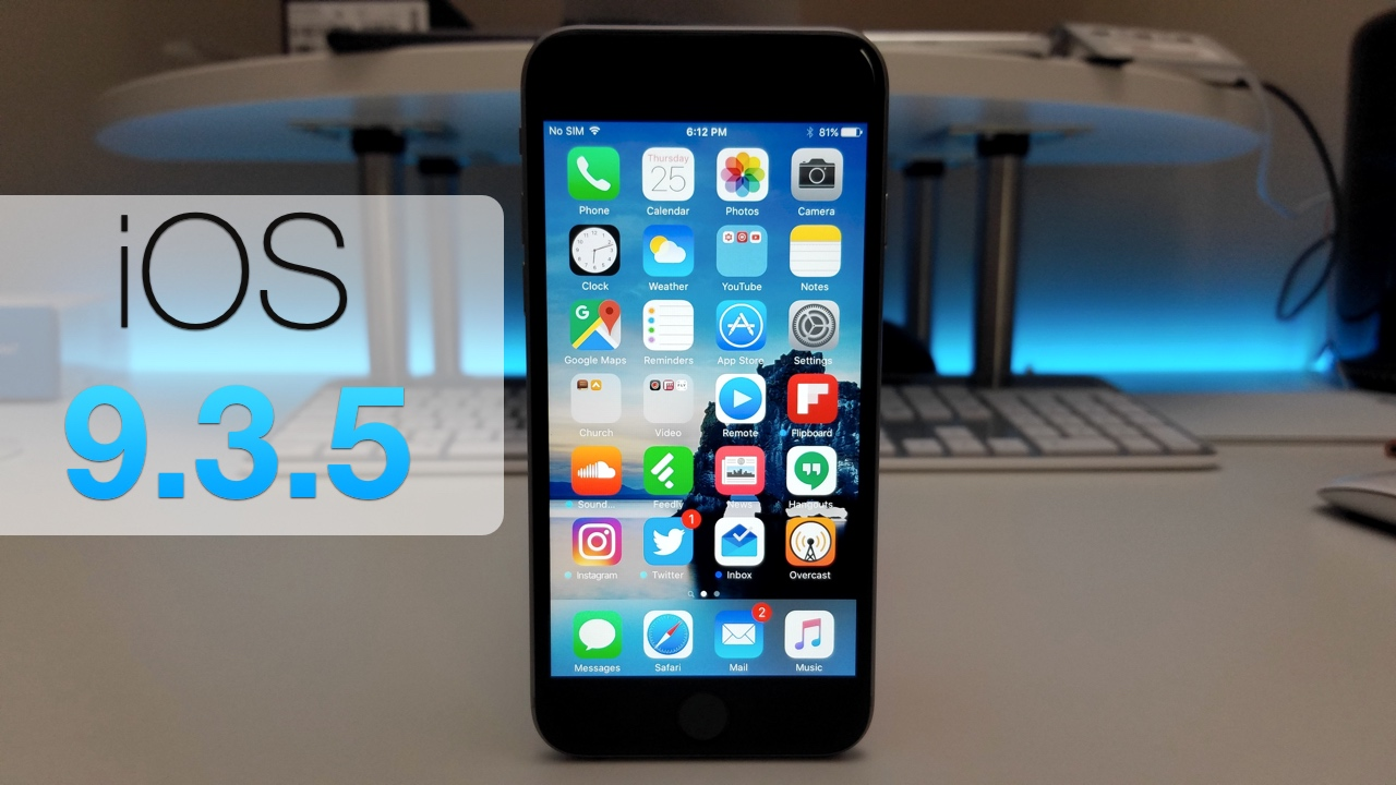 iOS 9.3.5 – What's New?
