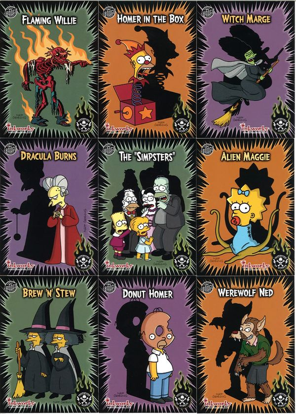 Wallpaper Girl Wallpaper Trading Cards The Simpsons Mania Set Treehouse Of Horror