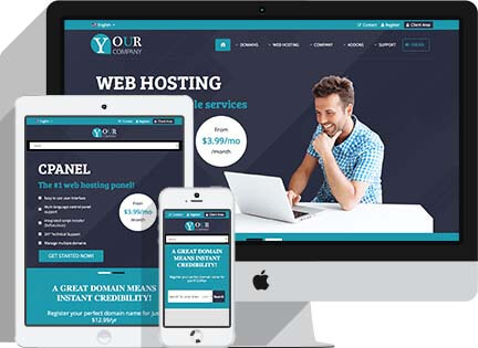 HTML Template for web hosting providers ~ A highly professional