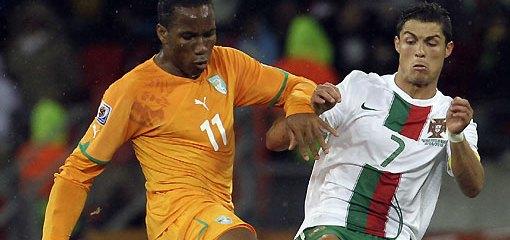 Costa de Marfil vs Portugal
