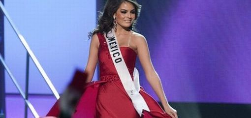 Miss Mexico Jimena Navarrete poses in an evening gown of her choice during the 2010 Miss Universe Presentation Show in Las Vegas