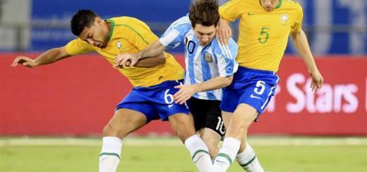 Messi anotó a brasil