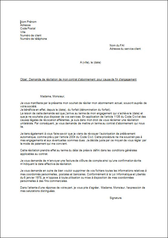 photo modele de lettre de resiliation bouygues telecom modele lettre