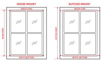 How to measure your window for roller blinds | Zone Interiors