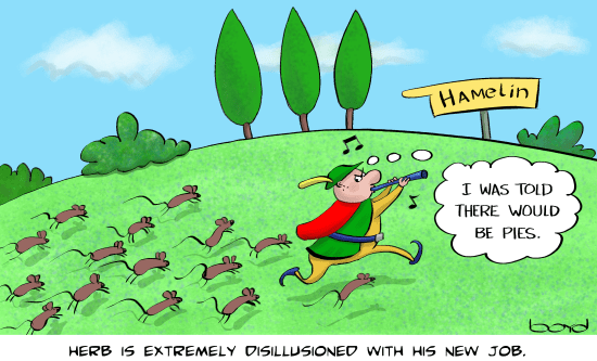 Herb is a pied piper