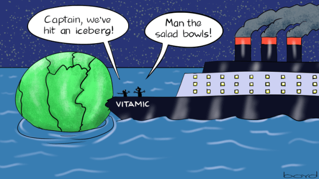Vitamic hits an iceberg