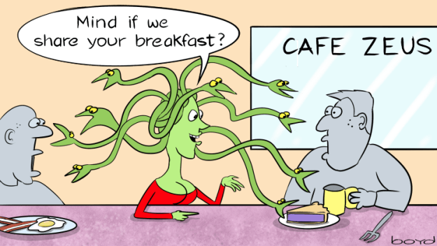 Medusa shares breakfast