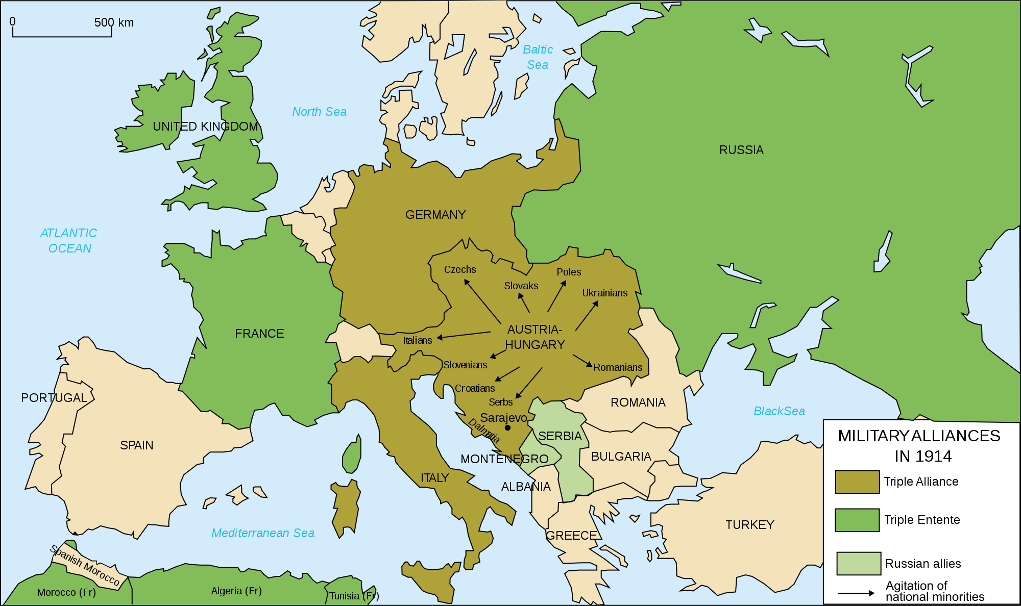 Europe Map Before Ww1