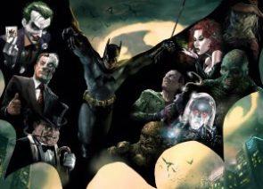 Batman has villains in his cape