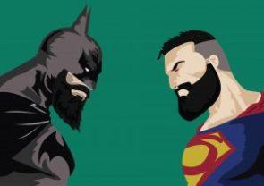 batman vs superman with beard wide