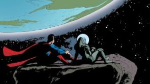 Superman and Girlfriend in Space