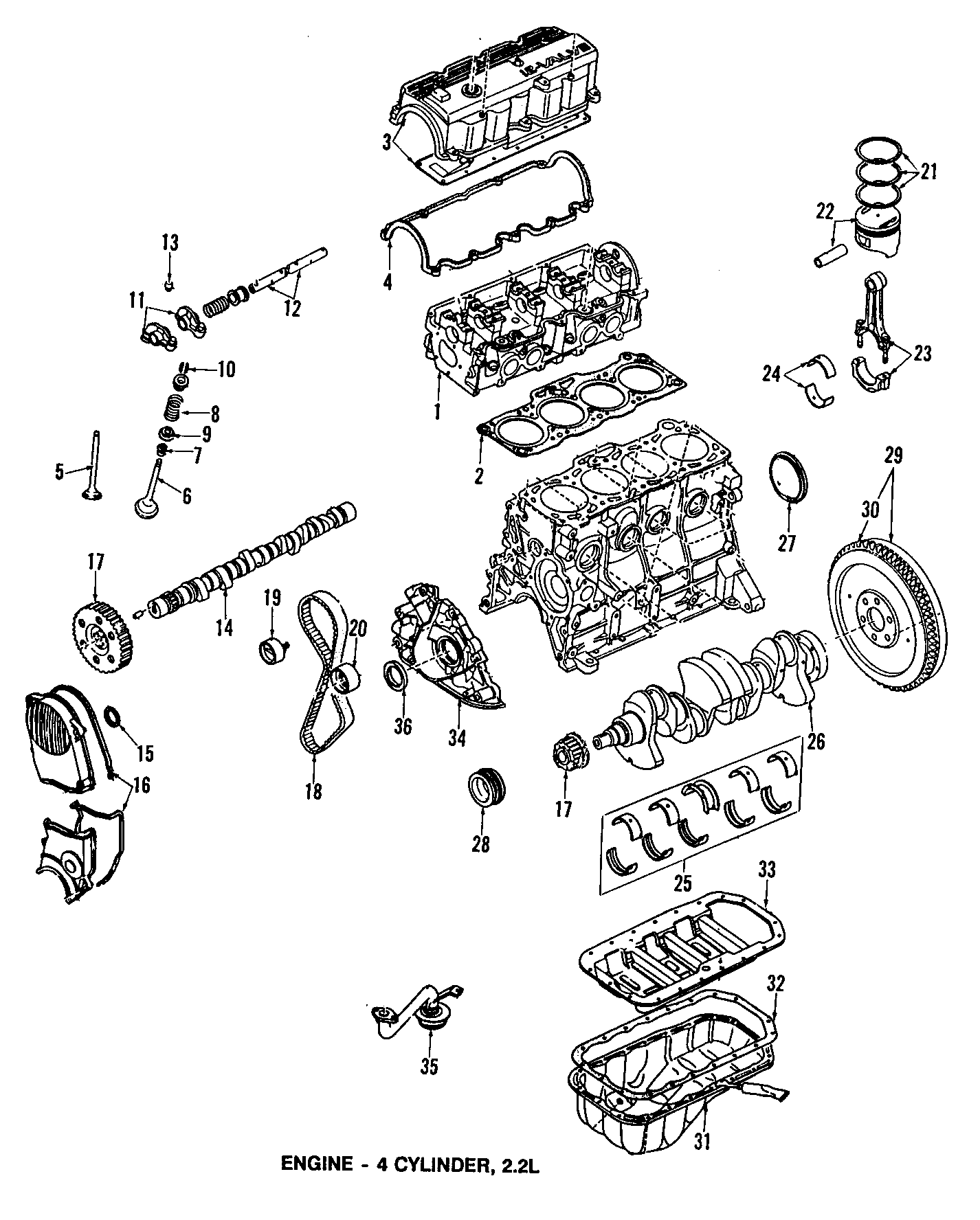 1987 mazda engine parts diagram