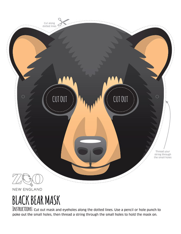 Black Bear Mask Zoo New England
