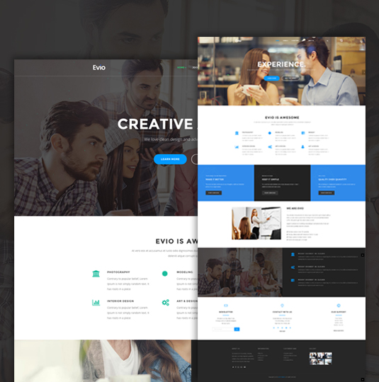 Evio Responsive Business Joomla Template