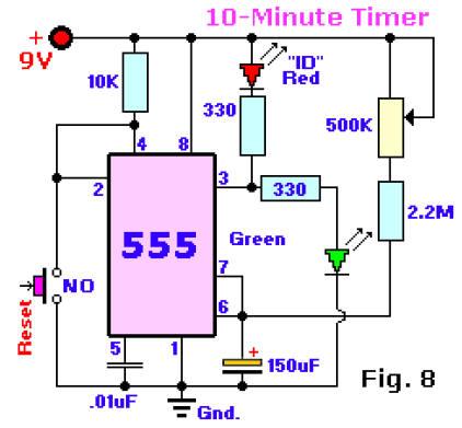 Timer 555 Compteur 10 minutes