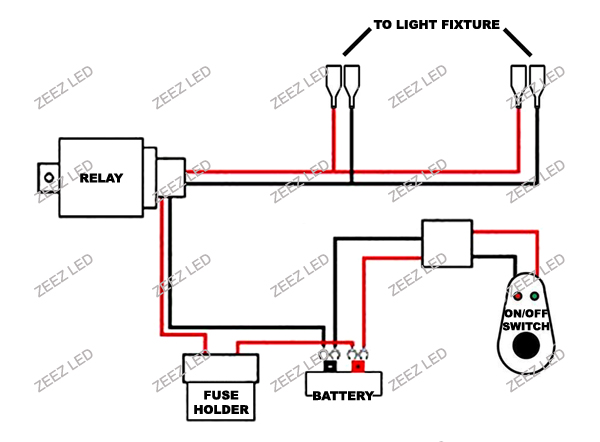 wiring kit with relay fog spot lamps