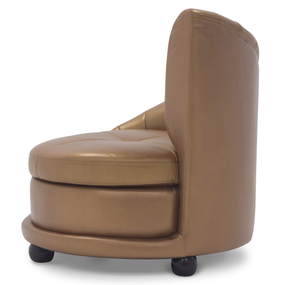 Chelsey Contemporary Comfortable Leather Lounge Chair