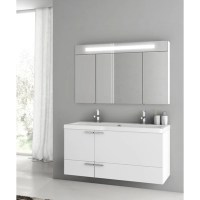 Modern 47 inch Bathroom Vanity Set with Medicine Cabinet ...