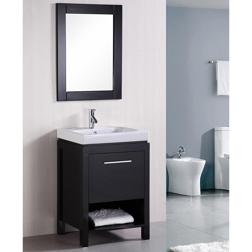 Marly 24quot Single Sink Vanity Set Zuri Furniture