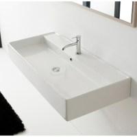 Teorema Wall Mounted - 1 Hole Sink | Zuri Furniture