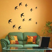 Swallow Wall Stickers - Birds wall decal - Pack of 12 or ...