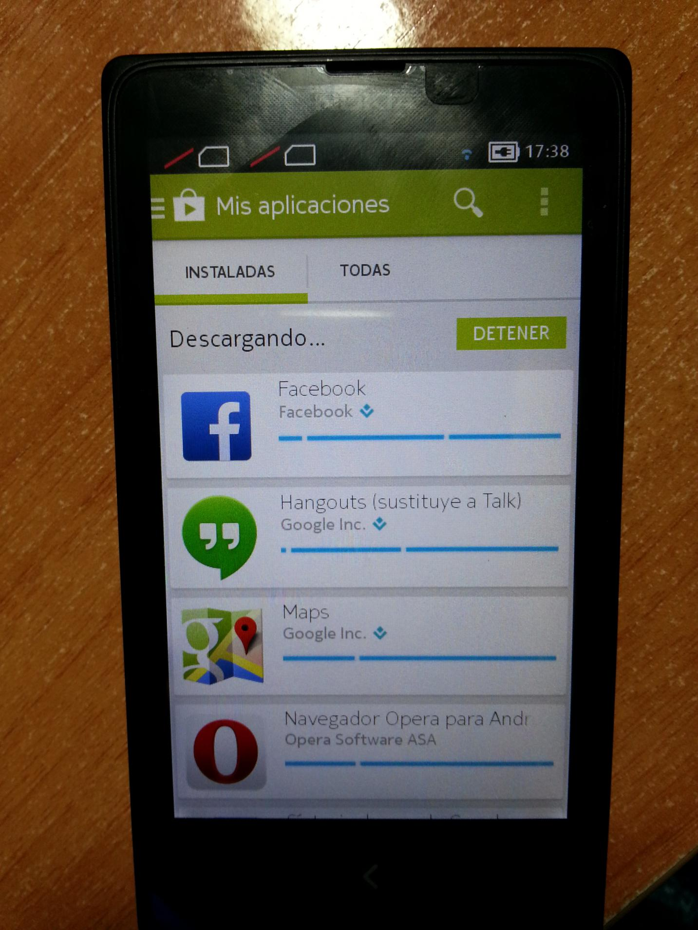 Nokia x rooted and loaded with google apps play store and google now launcher