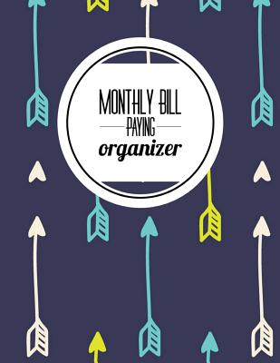 Monthly Bill Paying Organizer Personal Money Management with