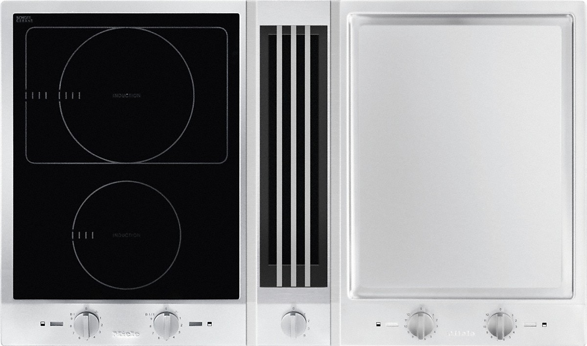 Impressive Induction Hob Consists Downdraft Extractor Miele Induction Cook De Error Miele Induction Cook How To Turn On A Central Miele Csda Proline Tepan Yaki houzz-02 Miele Induction Cooktop
