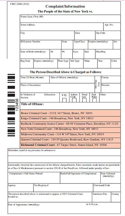 Summons Reform - Civil Summons Form