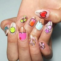 These Cartoon Nail Art Designs Are A Total Blast From The ...