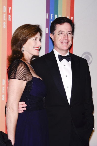 Stephen and Evelyn Colbert at the 35th Kennedy Center Honors
