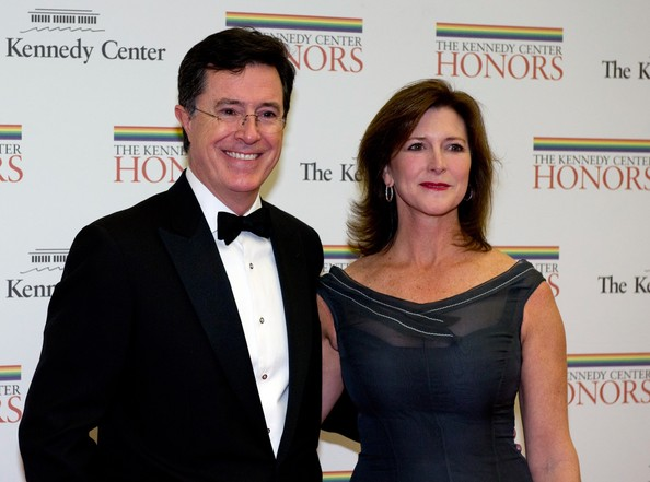 Stepehn Colbert and Evelyn McGee-Colbert at the Kennedy Center Honors Gala Dinner