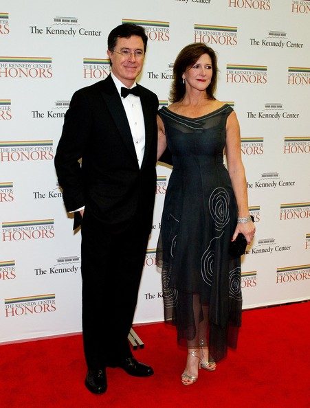 Stephen and Evelyn Colbert at the 35th Kennedy Center Honors Gala Dinner