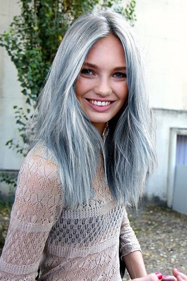 Really Cute Teal Teal Wallpaper Transition From Dyed Dark Hair To Dyed Grey Hair Short