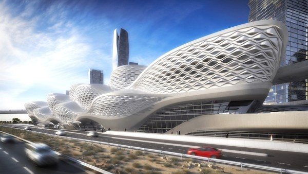 King Abdulla Financial District metro station (Image © Zaha Hadid Architects)