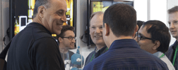Carl Bass, CEO and President, Autodesk (at left)