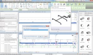 Convert design level of detail model elements to construction level of detail elements using the Design to Fabrication tool.  Image courtesy of Autodesk.