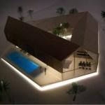Triangular House night view