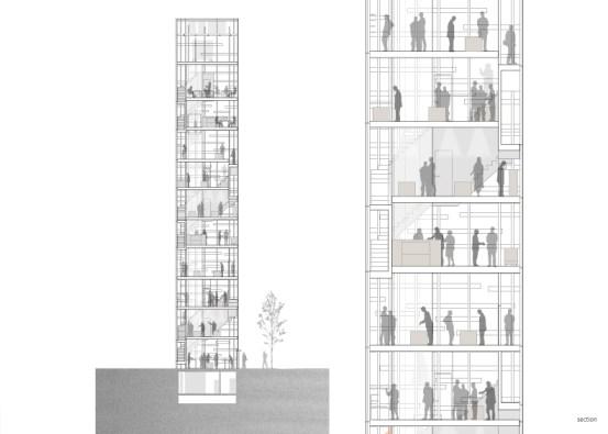 Transparent facade
