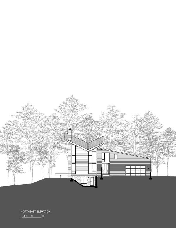Harkavy Residence Elevation North East