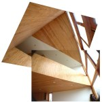 The building design includes different types of wood.