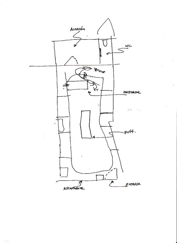 Free Hand Sketch of Munich Fractal Arena, Valencia, 2010